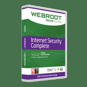 Webroot Internet Security retail box