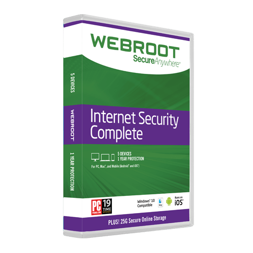 Webroot Internet Security retail box