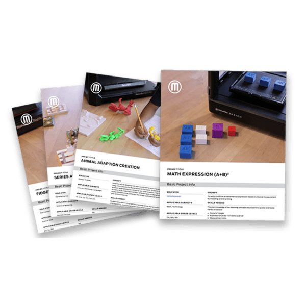 Lesson Plans for 3D printing with Makerbot printers